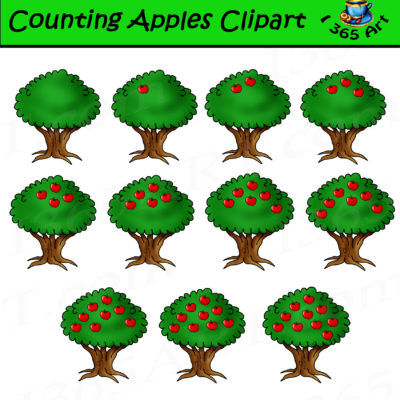 counting clipart apples