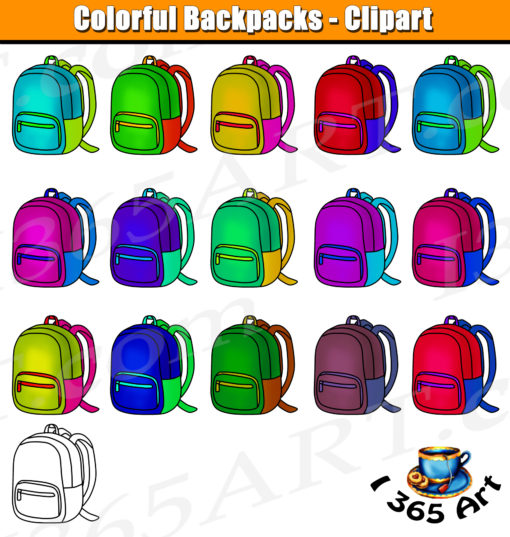 School Backpack Clipart