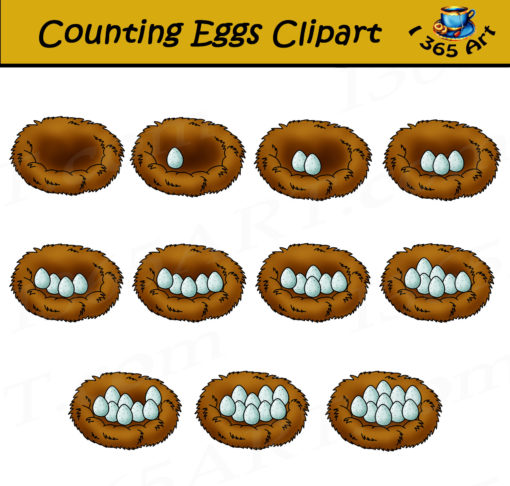 egg counting clipart