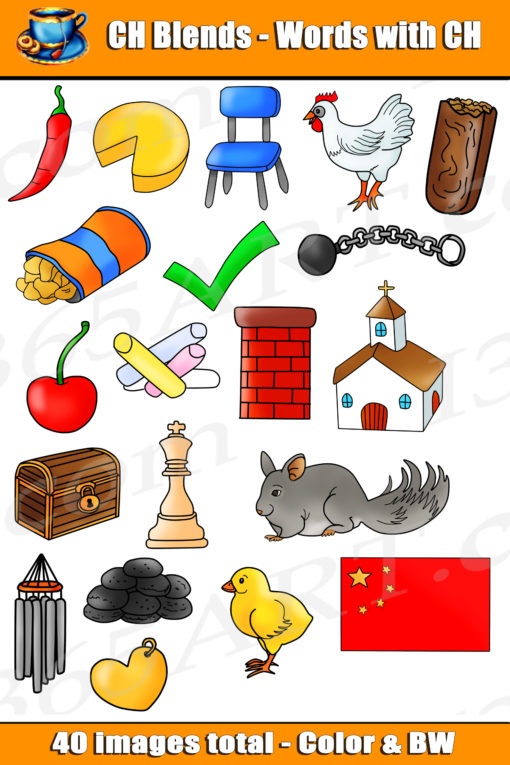 ch digraph clipart