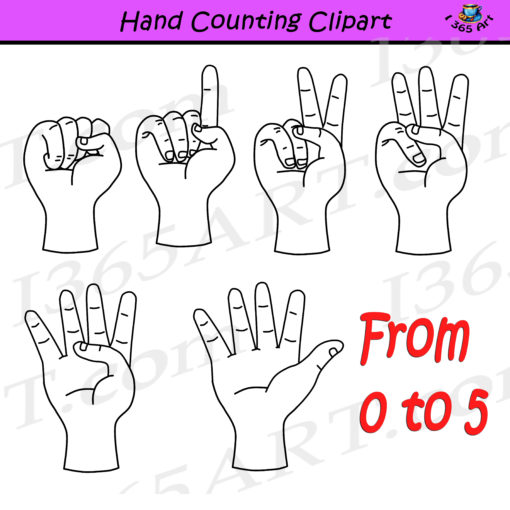 hand counting clipart