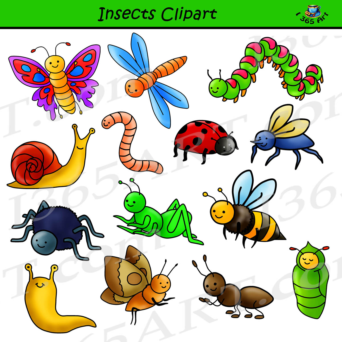 insect clipart set commercial use graphics clipart 4 school rh clipart4school com clipart insect insects clipart png