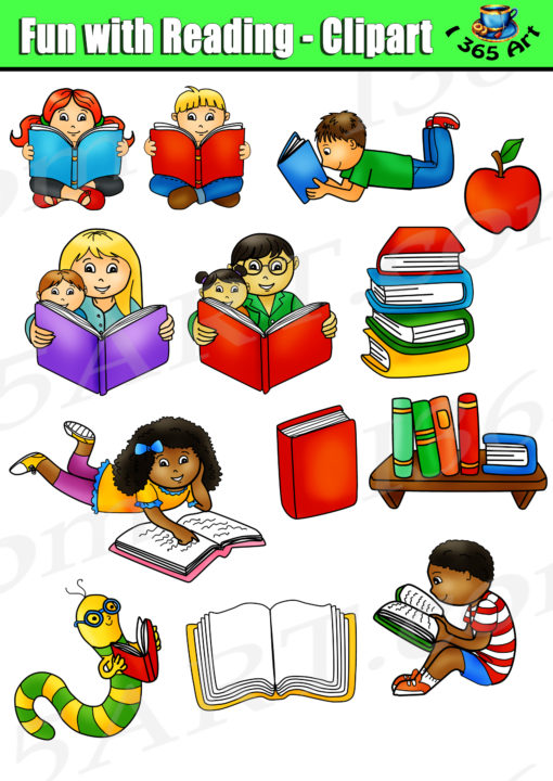 Reading Kids Clipart