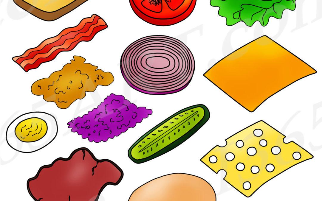 Build Sandwich Clipart Set – Sandwich Maker Clip art