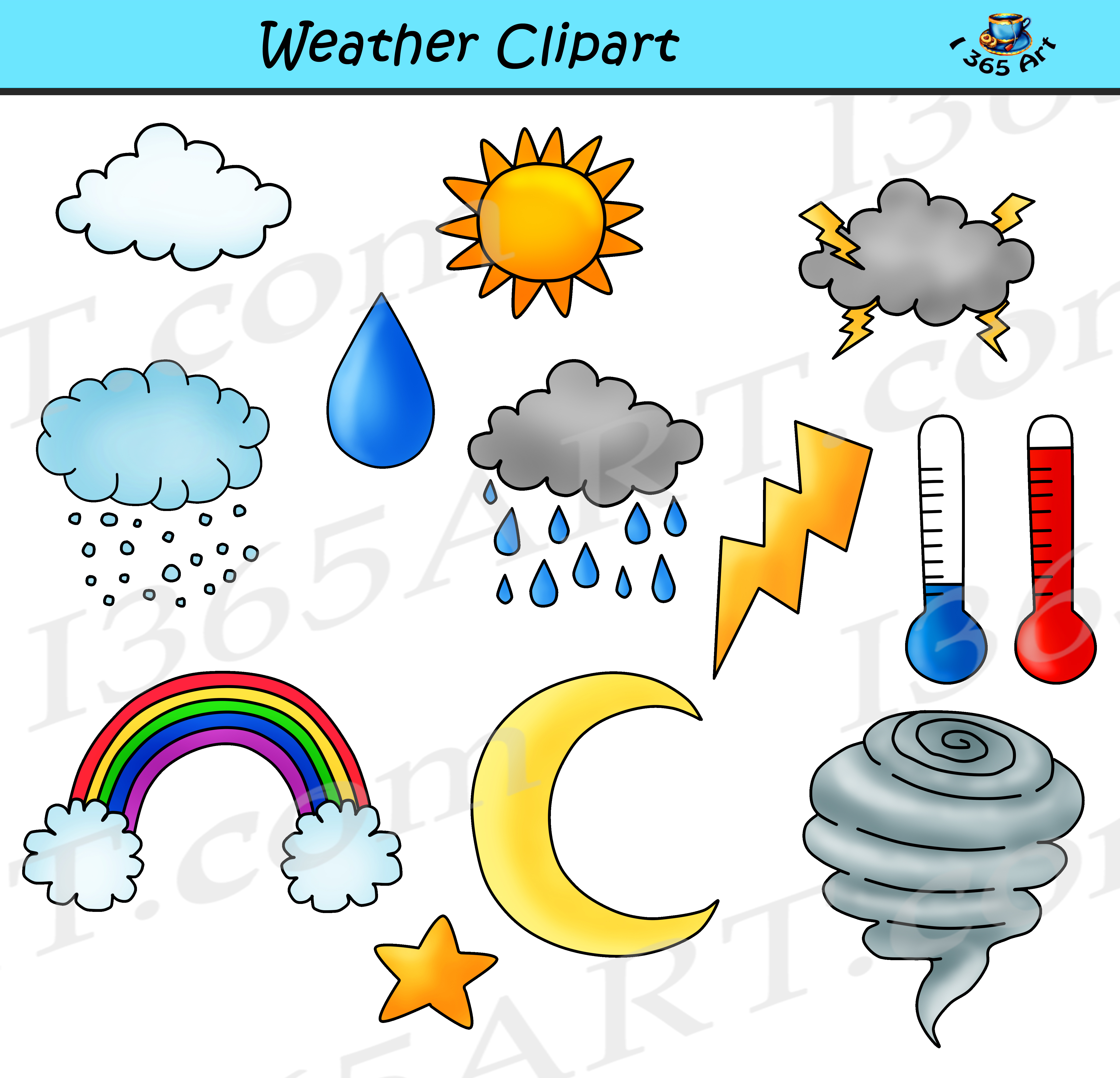 weather clipart bundle set commercial use clipart for school rh clipart4school com clipart for schools free clipart for school subjects