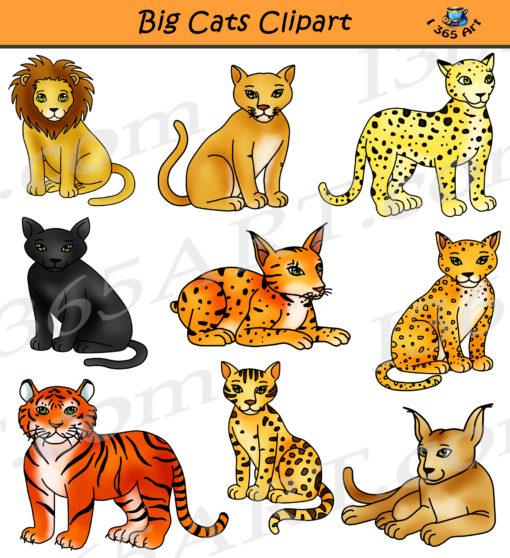 Big Cats Clipart