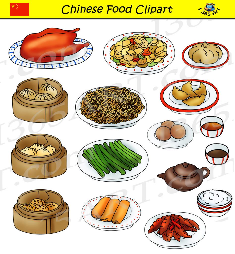 Chinese Food Clipart Set - Commercial Graphics - Clipart ...