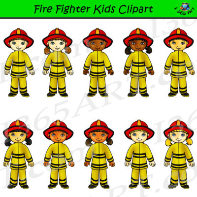 firefighter clipart kids