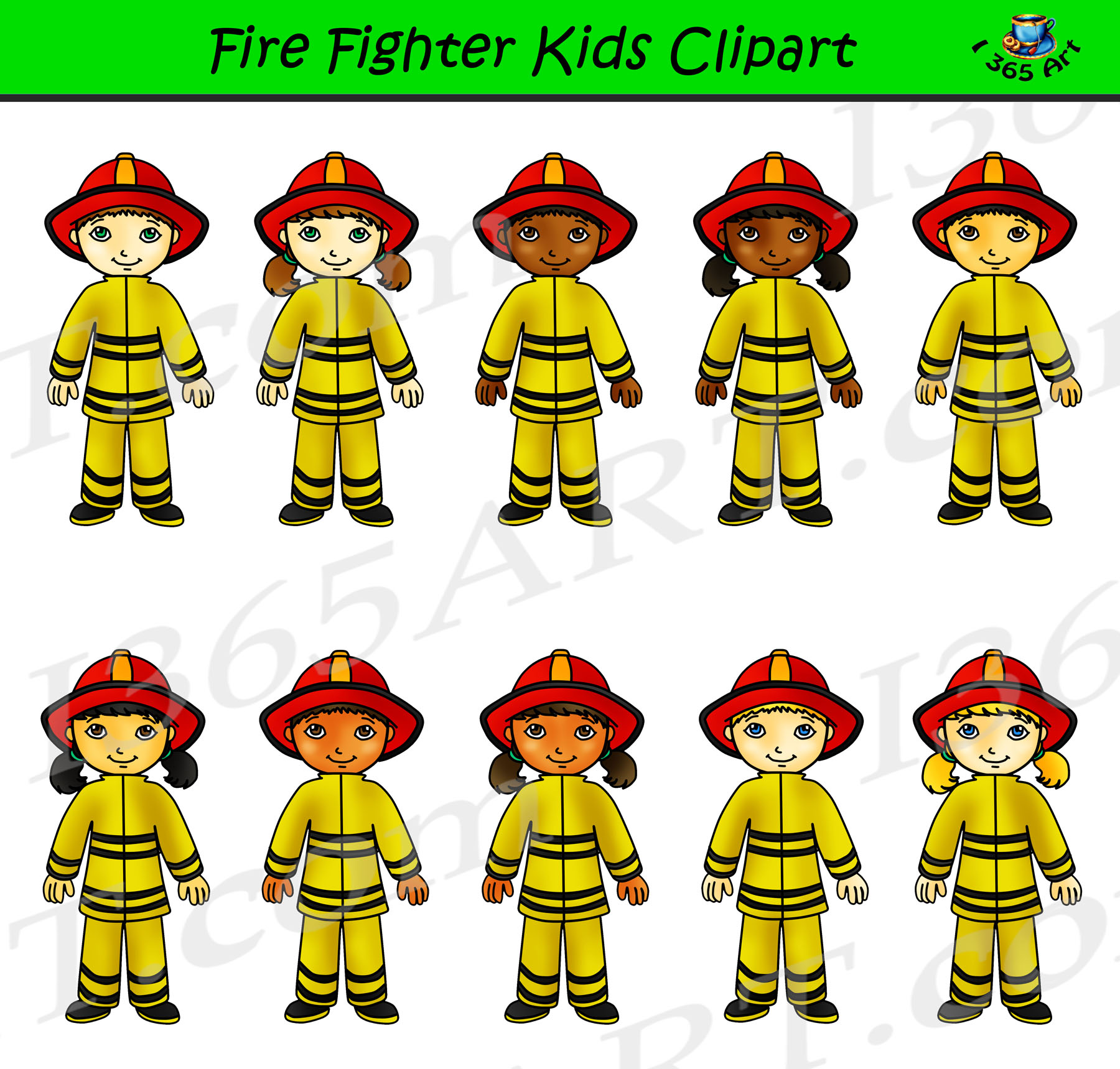 Firefighter Clipart Kids Career Day Graphics Clipart For School