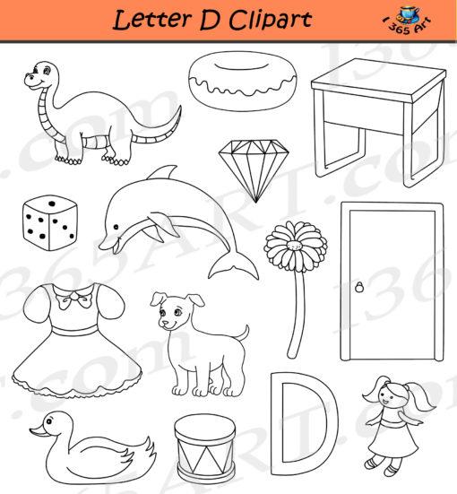 Letter D Clipart