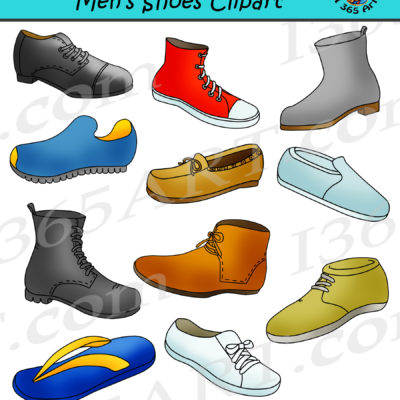 Mens shoes clipart