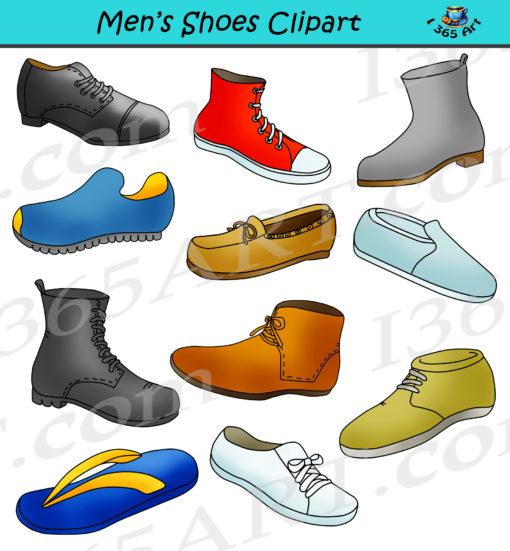 Mens shoes clipart