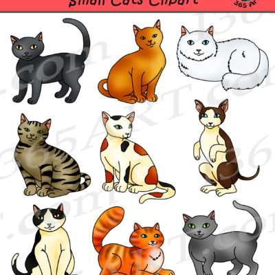 Small Cats Clipart