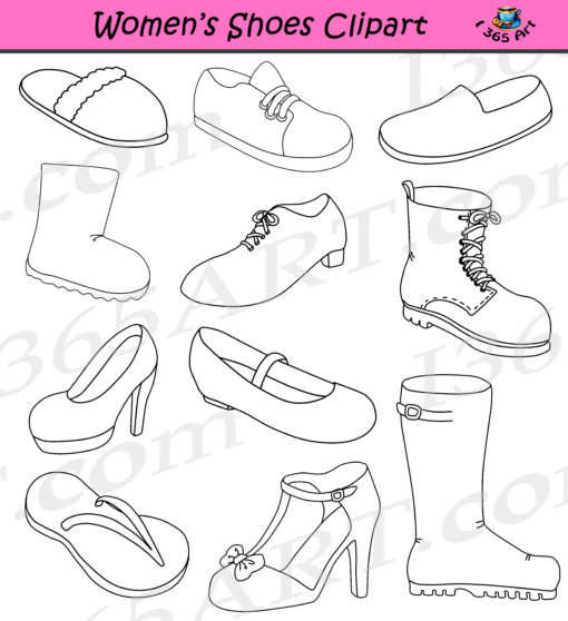 Womens Shoes Clipart