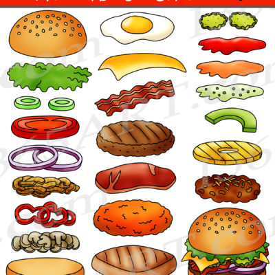 Build a Burger Clipart