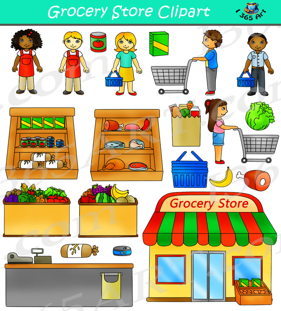 Grocery Store Clipart Commercial - Clipart 4 School