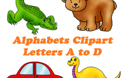Alphabets Clipart Pack – Letters A to D Now Available!