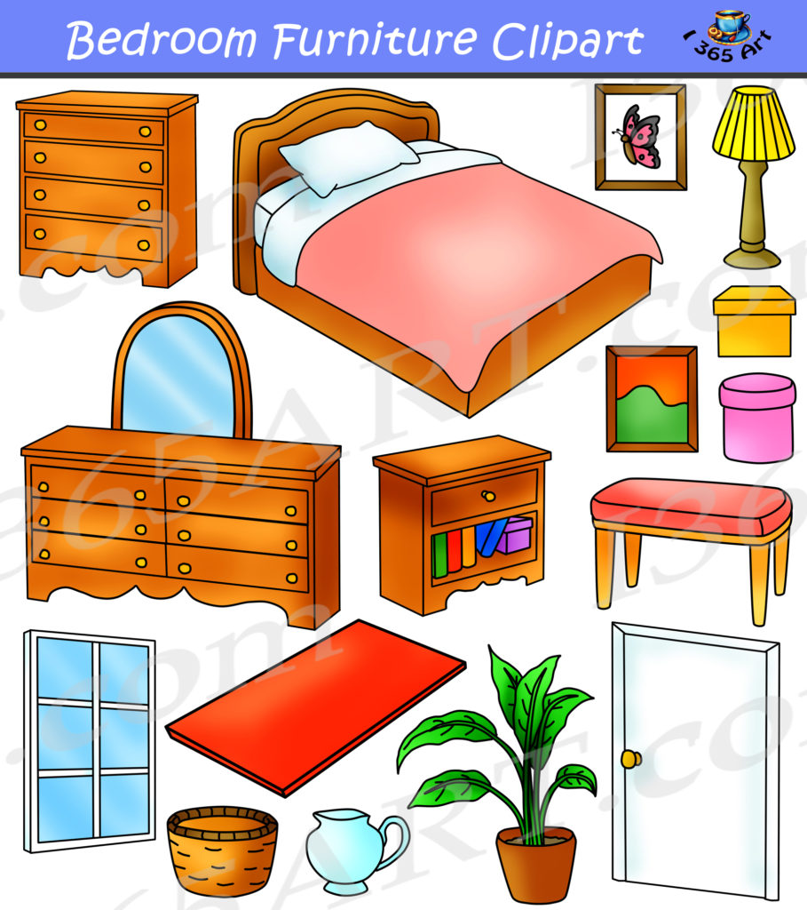 Kitchen Room Furniture Clipart: Bedroom Clipart Home Furniture Graphics Commercial