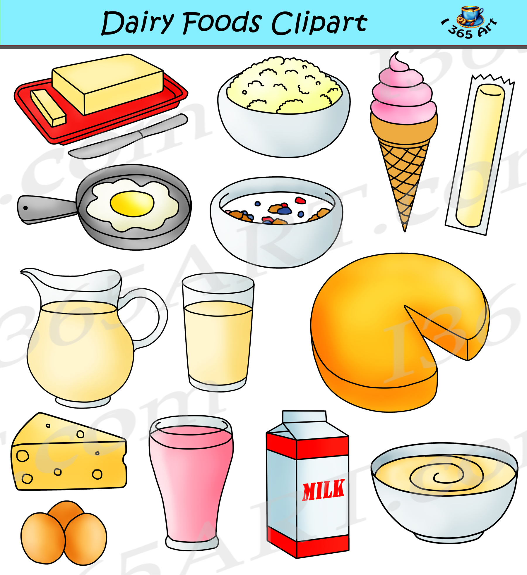 dairy clipart milk foods graphics food things clip healthy queso teachers preschool transparent