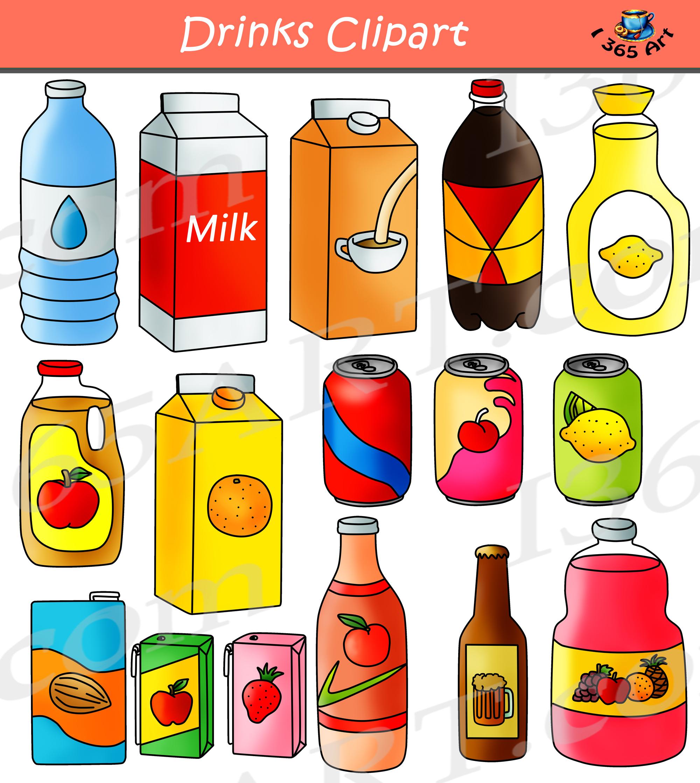 drinks clipart beverage bundle clipart 4 school