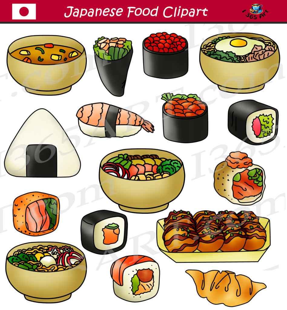 Japanese Food Clipart Sushi Commercial Graphics - School ...