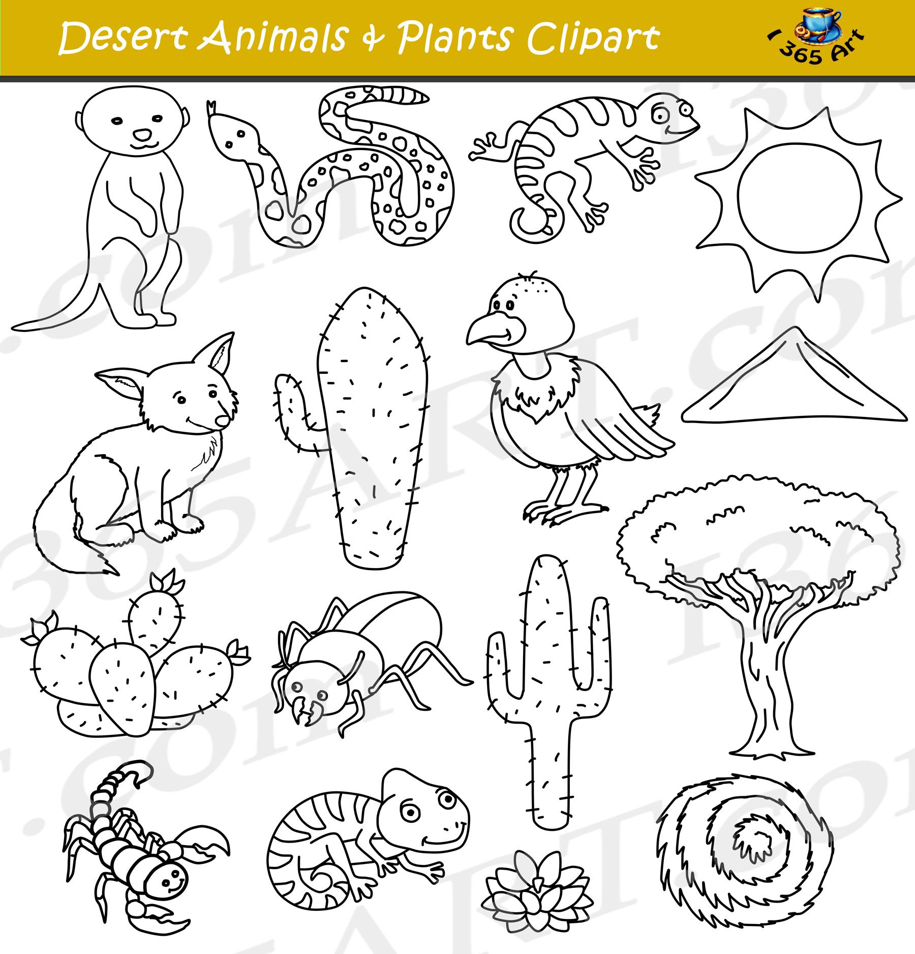 Desert Clipart - Desert Animals and Terrain Clip Art ...