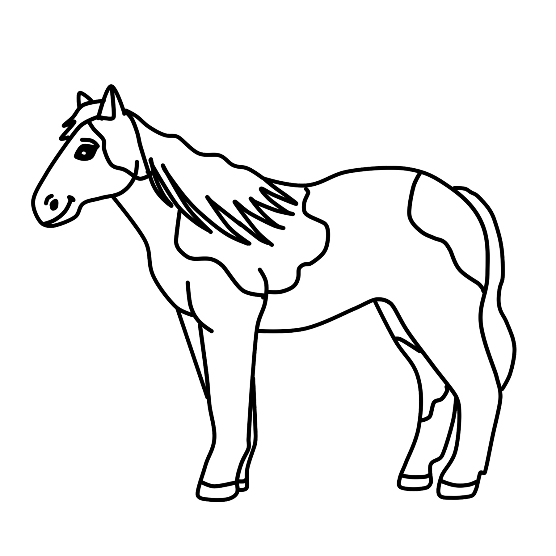 spotted horse clipart pony graphic free clipart by clipart 4 school rh clipart4school com running horse clipart black and white horse clip art black and white free