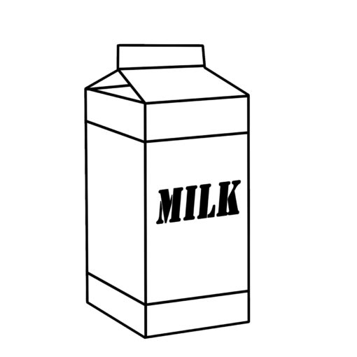 Milk Clipart Black and White Preview