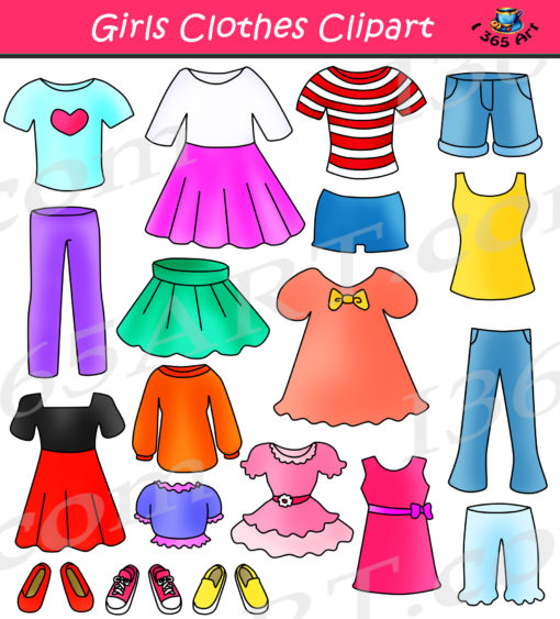 Girls Clothes Clipart