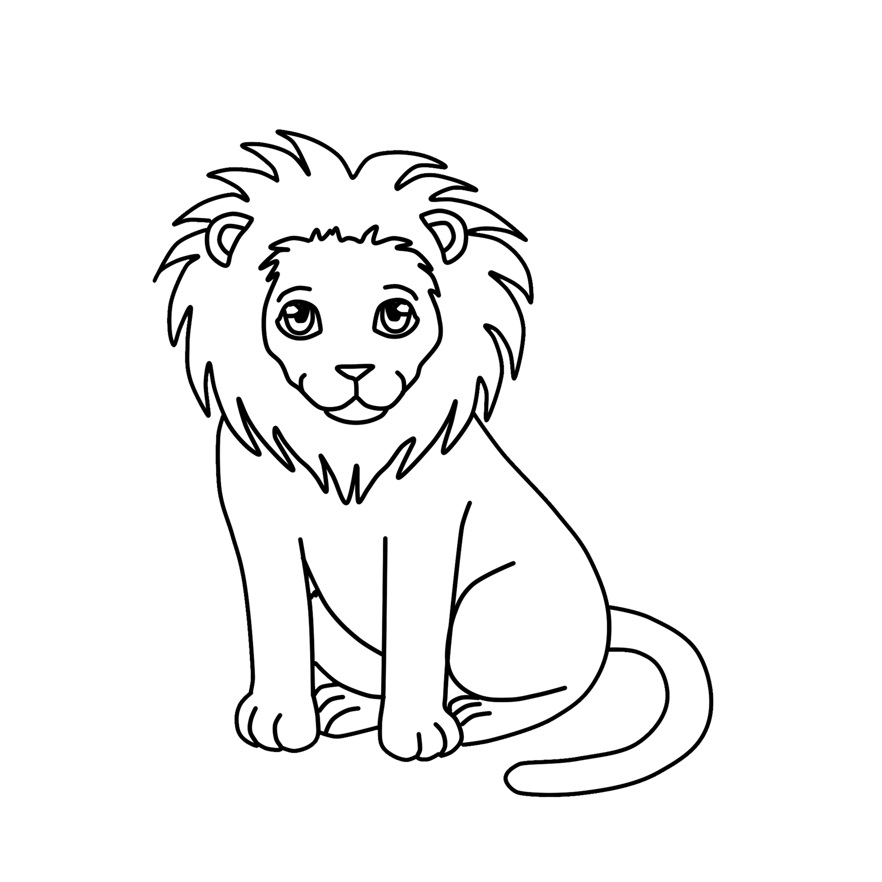 Lion Clipart Black And White Preview