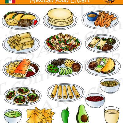 Mexican Food Clipart Preview