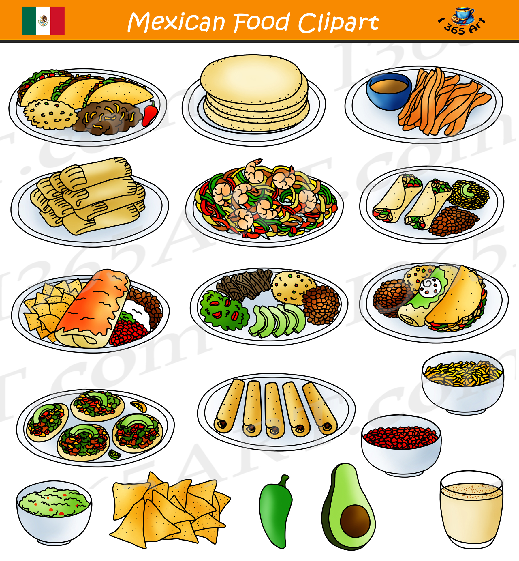 mexican food clipart comida mexicana school clipart rh clipart4school com mexican food clip art borders mexican food clipart black and white
