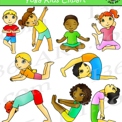 kids yoga clipart