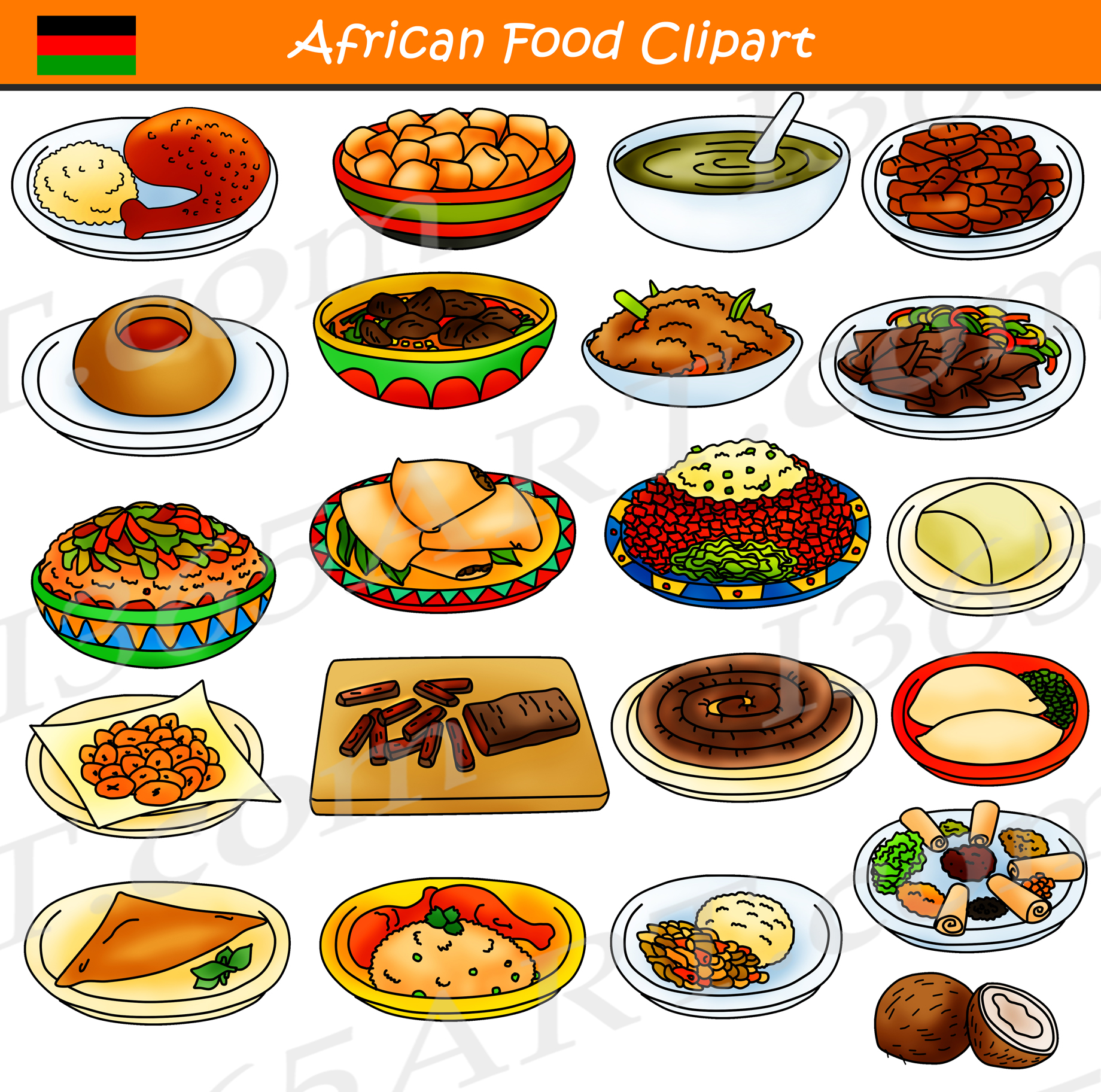 African Food Clipart Commercial
