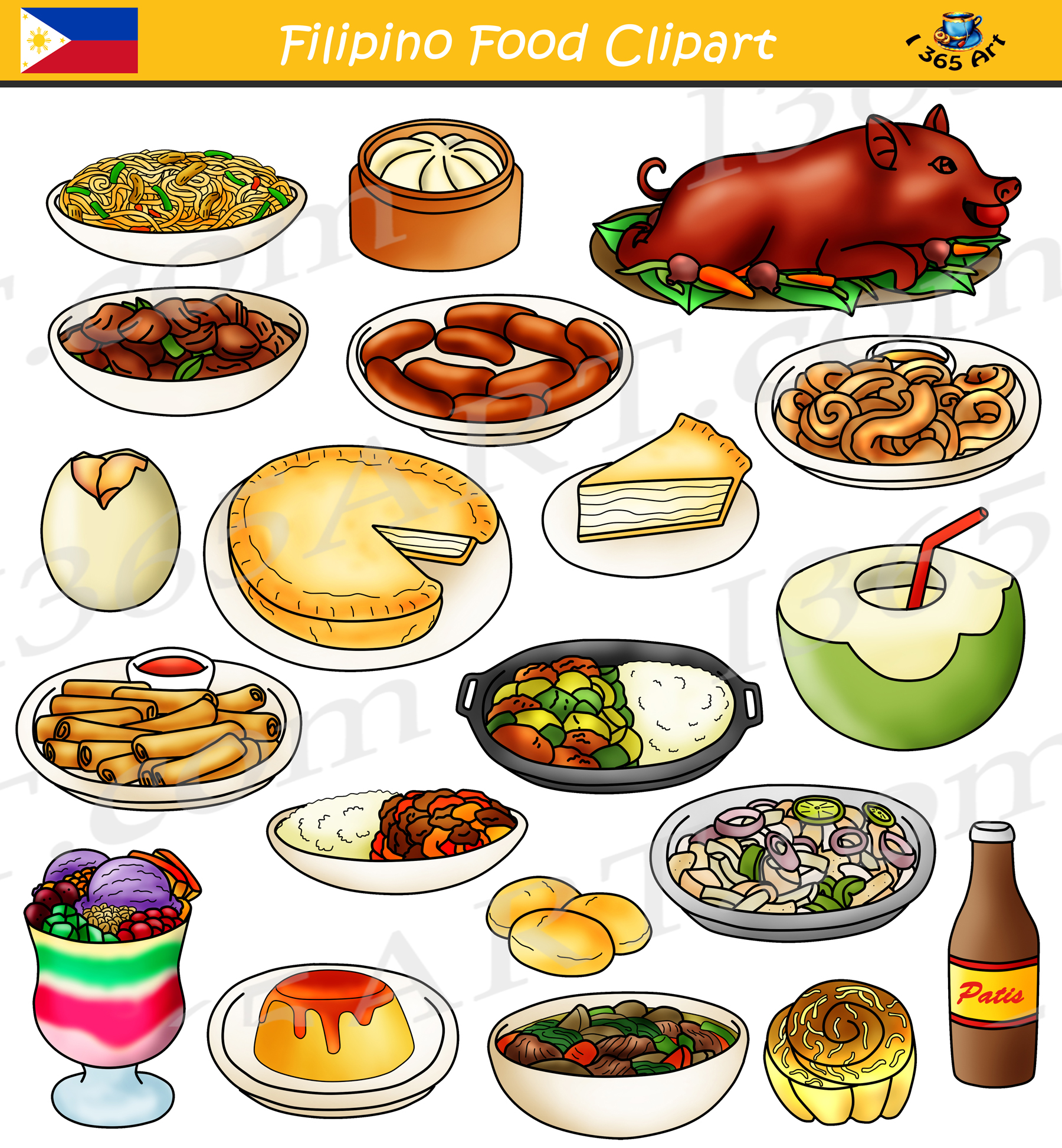 Filipino Food Clipart Bundle