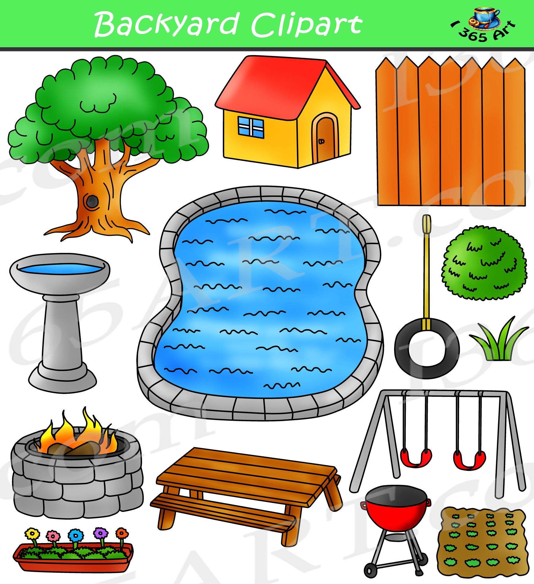 spring backyard clipart bundle build a backyard clip art school rh clipart4school com backyard clip art free backyard bbq clipart free