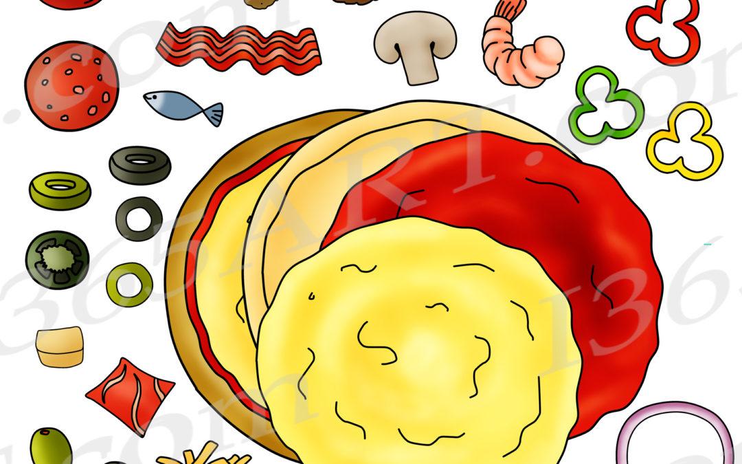 Build a Pizza Clipart Set