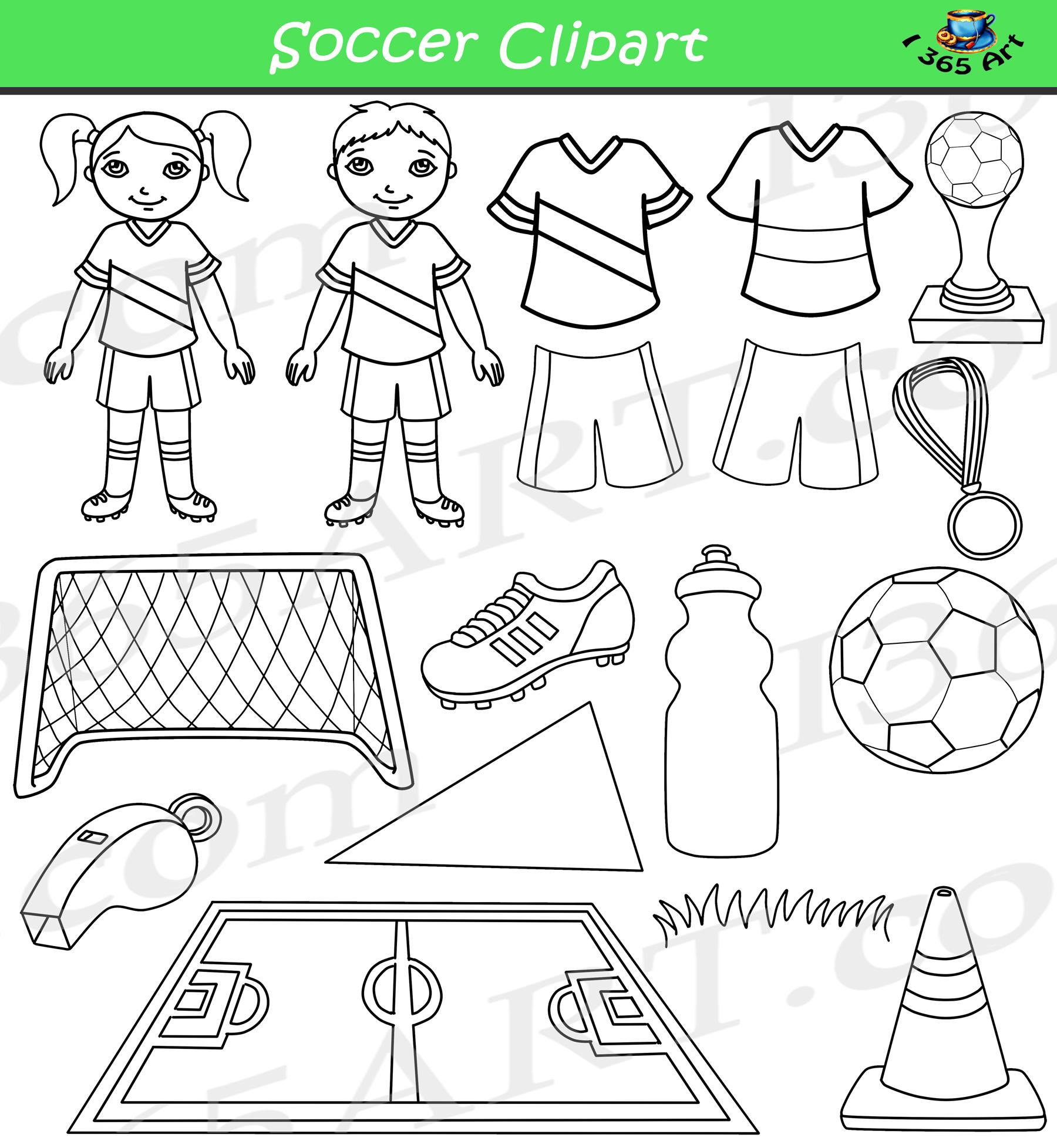 Soccer Clipart Bundle Set