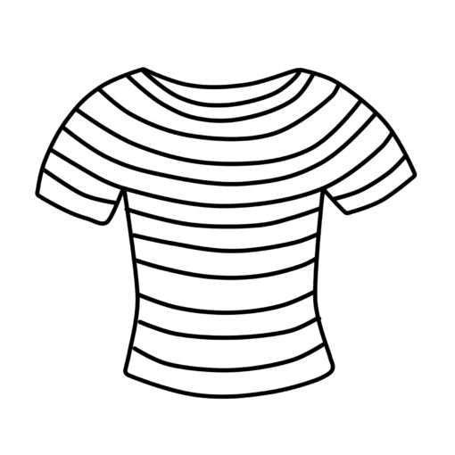 T-shirt Clipart Free Striped Shirt Clip Art Black and White