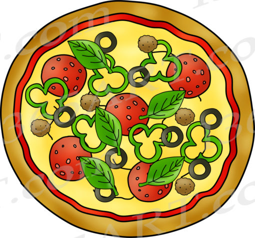 Build Pizza Clipart Preview
