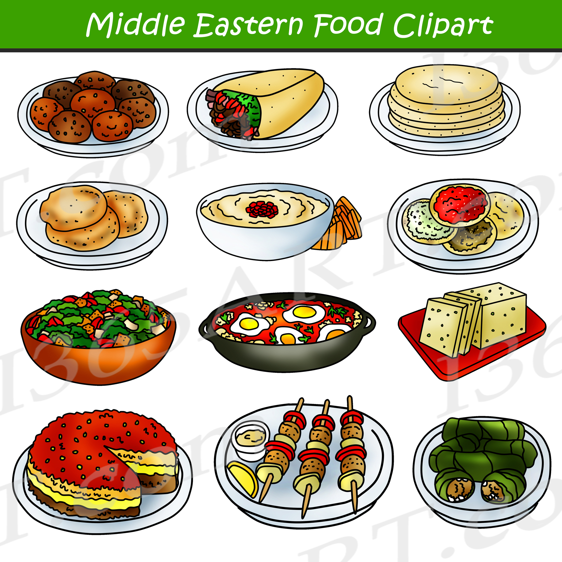 middle eastern food clipart arabic food clip art graphics commercial