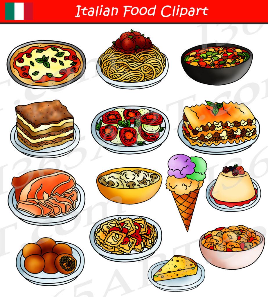 Italian Food Clipart International Food Graphics Download