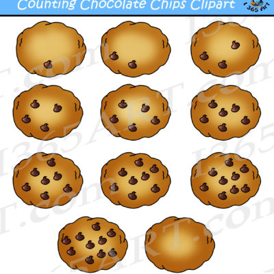 Counting Chocolate Chip Cookies Clipart