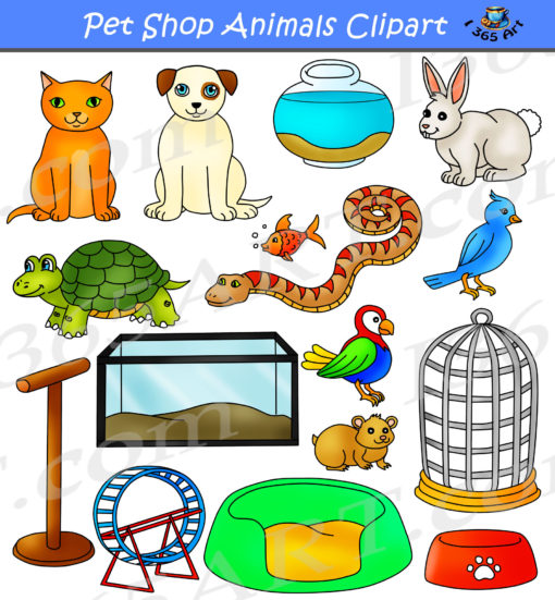 Pet Shop Animals Clipart