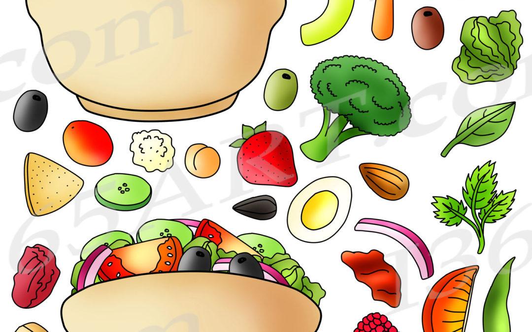 Build A Salad Clipart Graphics Commercial Download