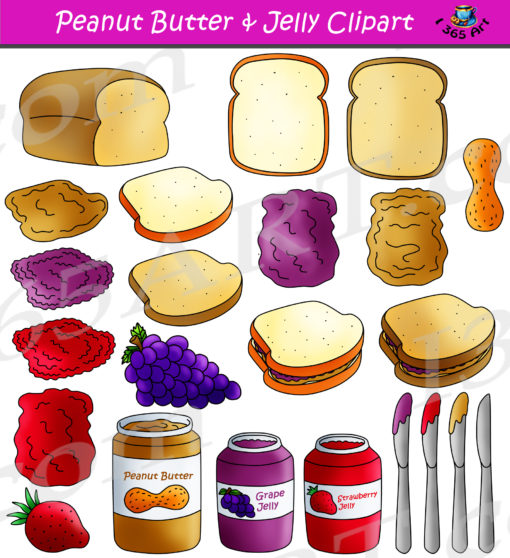 Peanut Butter Jelly Clipart