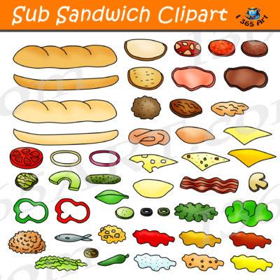 sub sandwich clipart