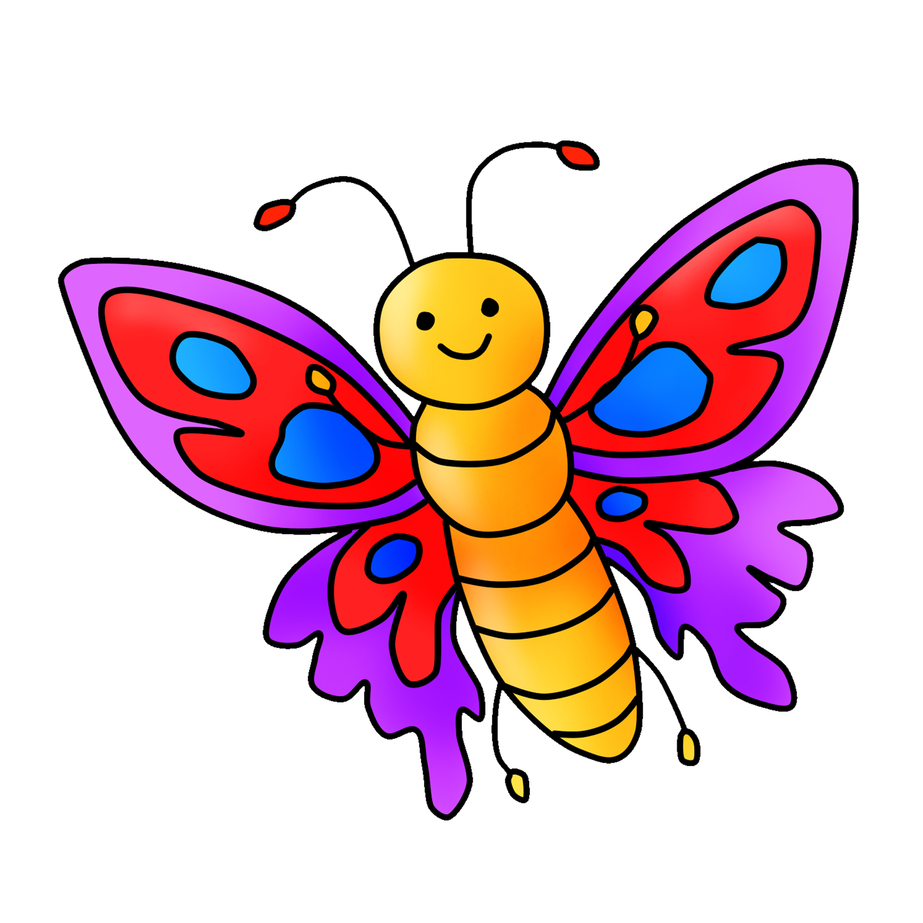 Free Butterfly Clipart Digital Graphic Download | Clipart 4 School