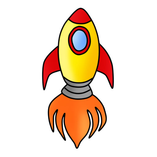free space rocket clipart
