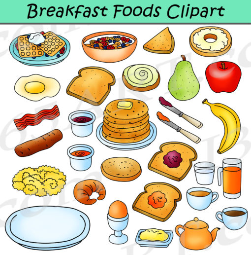 breakfast foods clipart